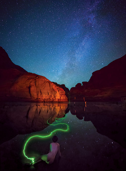 Astro Nude Desert Sky Lake Powell I Johnsson