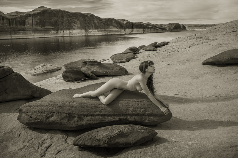 Blacklock sandstone landscape nude