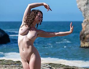nude beach model tour